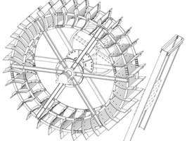 Skizze Mühlrad